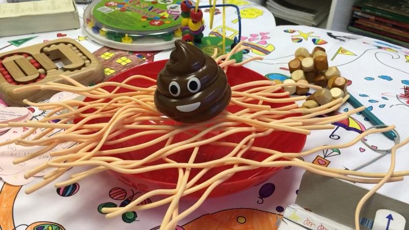 Poop on a bowl