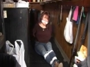 Barmaid tied up gagged and robbed . . .