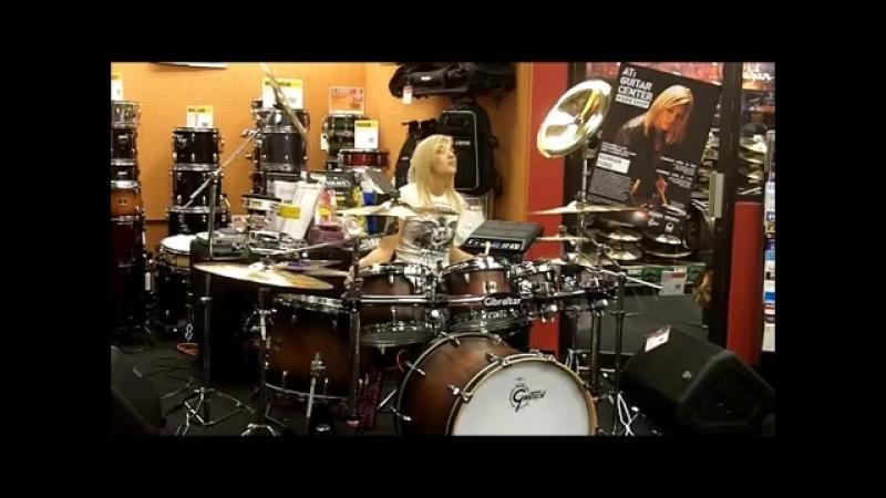 HANNAH FORD - GUITAR CENTER Arlington Hts IL - Peace Love Drums Tour