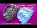 Gorro UNISEX a crochet Rombos en Relieves paso a paso para varones y mujeres