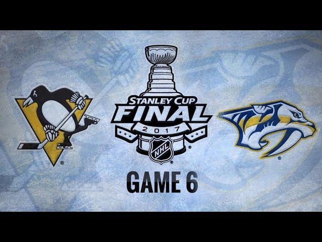 Обзор | НХЛ. Кубок Стэнли 2017. Финал, матч №6. «Питтсбург» – «Нэшвилл» 2:0 (счёт в серии: 4–2) | 11.06.17