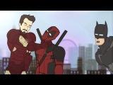 Флэш мстит Железному Человеку / Бэтмен уничтожает Дэдпула?