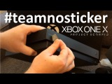 Team No Sticker! #teamnosticker @xbox Xbox One X Scorpio Edition