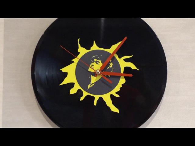 Часы своими руками из виниловой пластинки (В.Цой)