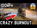 100MPH SUPERBIKE BURNOUT *INSANE YAMAHA R1 BIG BANG*