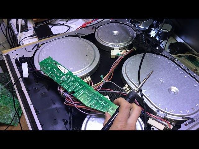 ремонт варочной панели BOSCH PKN675N14D с ошибкой 26