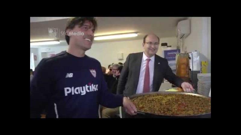 Paella de confraternización en la ciudad deportiva. 08/03/18. Sevilla FC