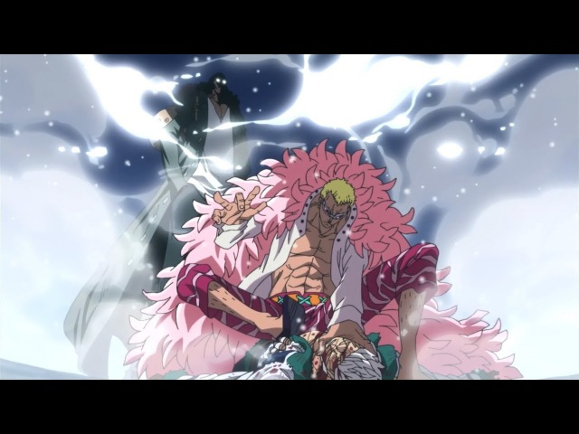 Aokiji vs Doflamingo