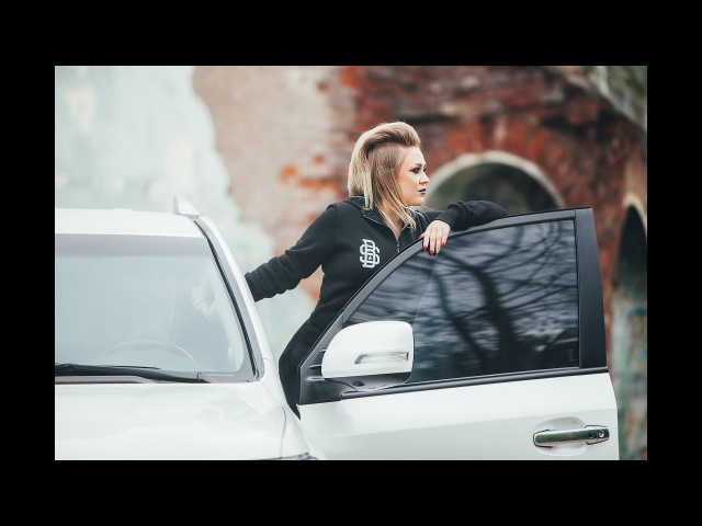 Land cruiser girl in black