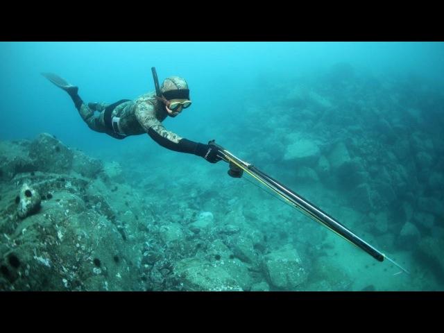 Подводная охота.  Лучшие моменты на море.