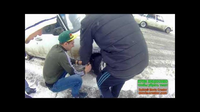 Дрифт-тренировка по снегу на Белой Стреле.Слоу-мо.