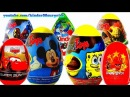 Kinder Surprise Eggs Disney Cars Toys Angry Birds Choco Toys Lightning McQueen Surprise Toys