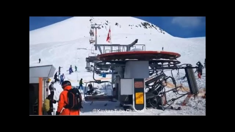 Трагедия на горнолыжном курорте в Грузии Гудаури. Взбешенная канатка.