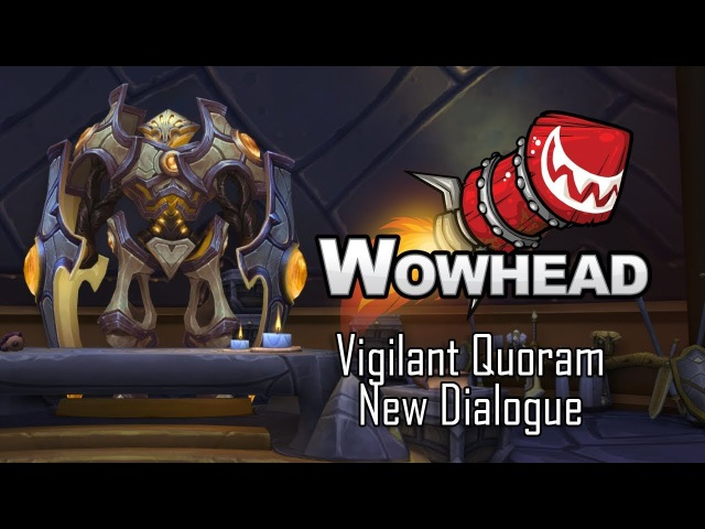 Vigilant Quoram - New Dialogue in Lightforged Draenei Vindicaar