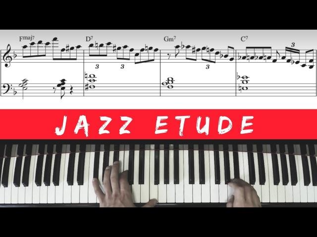 Lick No 1 Jazz Improvisation Etude │Jazz Piano Lesson 44