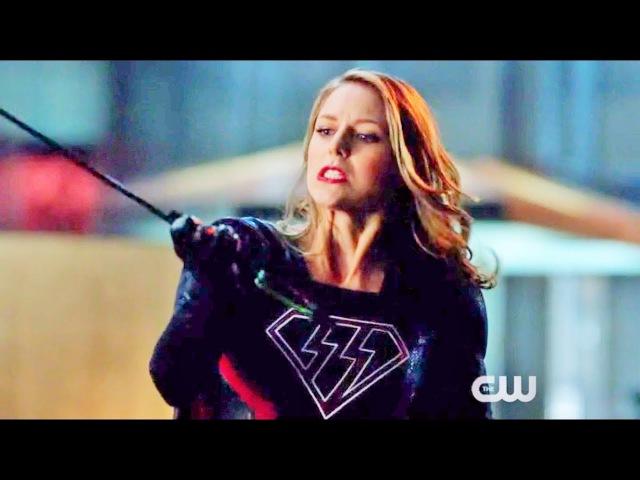 Arrow 6x08 Oliver Queen shots Evil Supergirl with Kryptonite Arrow Scene