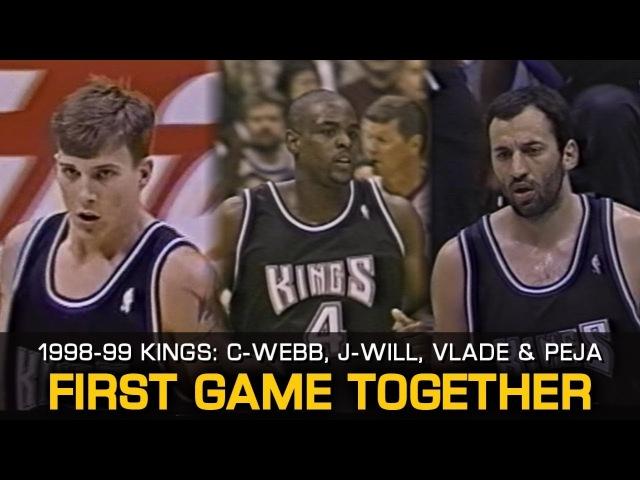 1998-99 Sacramento Kings: Chris Webber, Jason Williams, Vlade Peja (First Game Together)