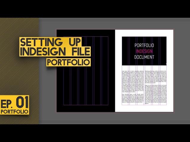 SETTING UP INDESIGN DOCUMENT - Architecture Portfolio Ep. 1