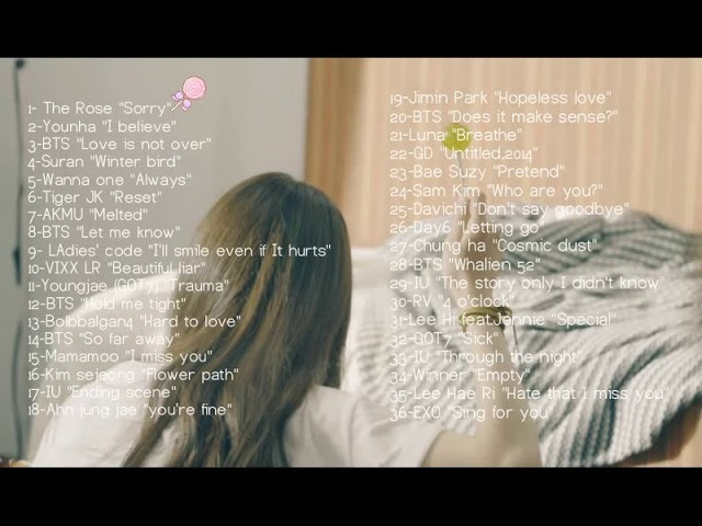 Sad korean songs mix 🍂🍃🍁 {homework,sleeping,relaxing}