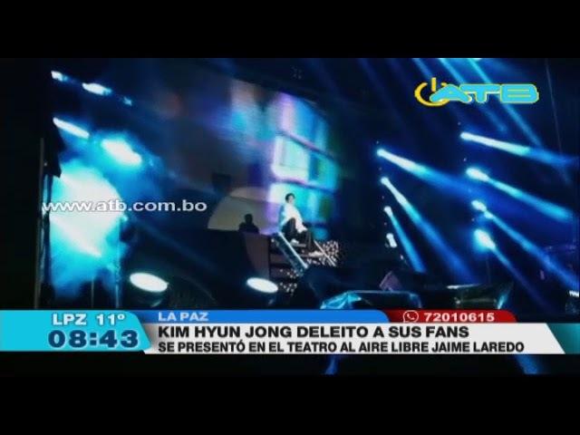 Kim Hyun Joong se presentó ante sus fanáticas en el Teatro al Aire Libre
