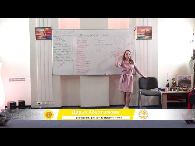 3-ая Чакра - Вектор Воли (Дарья Абахтимова)