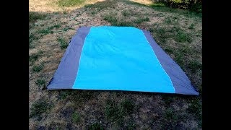 Outdoor Sand Free Beach Picnic Blanket, Portable Quick Drying Ripstop Nylon Blankets 9' x 7 2' For