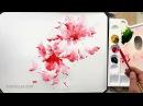 Акварель Зарисовка цветка Скоростная живопись