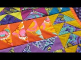 Machine Quilting Straight and Curvy lines with Angela Walters and the Slim Ruler