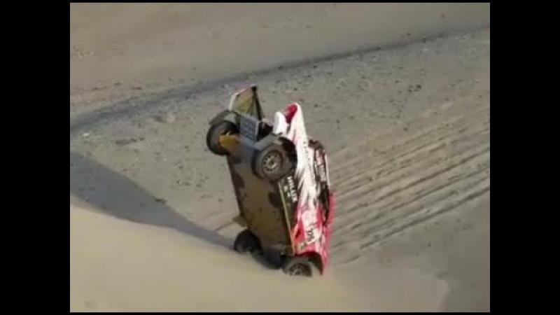 Rallye Dakar 2018 Crash Toyota Nr. 326 ALEJANDRO MIGUEL YACOPINI (ARG)
