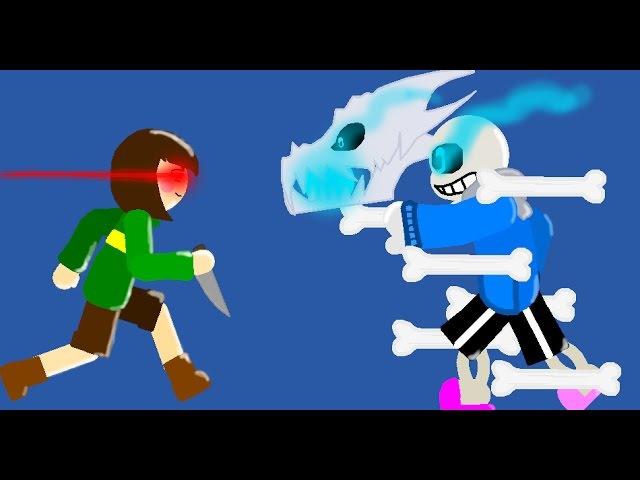 [Pivot Animation] Sans Vs Chara (Warning: Undertale Spoilers!!)