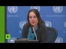 ONU une journaliste démonte en deux minutes la rhétorique des médias traditionnels sur la Syrie