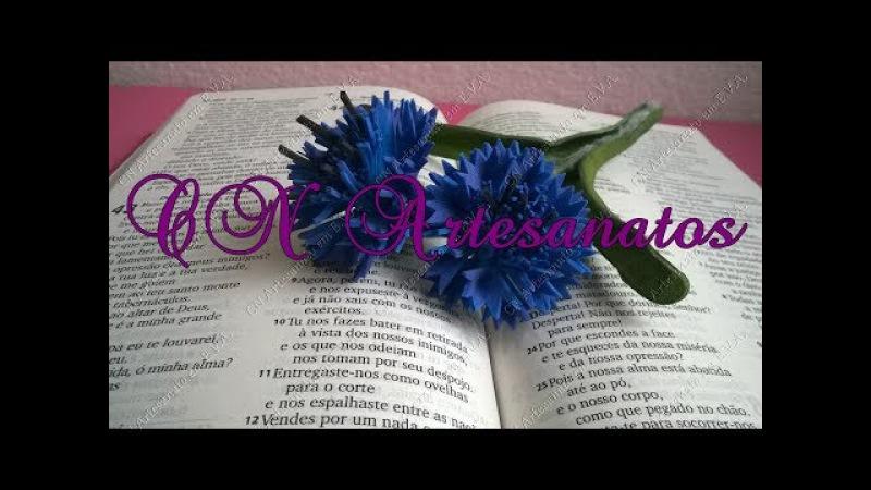 Flor azul Cornflower sem frisador: 1ª parte.
