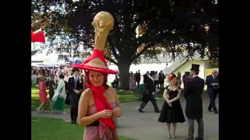 Royal Ascot 2010 Ladies in Wacky Hats- Lauren Naylor of the Sun.