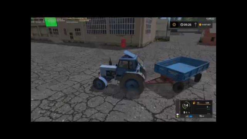 Мод трактор МТЗ Беларус 80 v1.0 и прицеп 2 ПТС 4 v1.2 Фермер Симулятор 2017