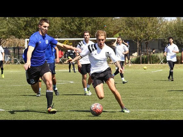 We're On The Field With Justin Bieber! See The Singer's Soccer Skills Up Close!