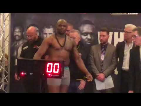 Dillian Whyte vs Lucas Browne WEIGH IN