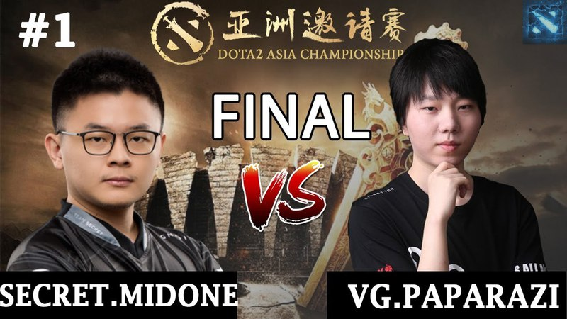 Secret.MidOne vs VG.Paparazi 1 (BO3) | 1 v 1 Solo Mid | GRAND FINAL | DAC 2018 Major | 5.04.2018