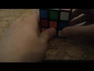2 часть белая сторона . как собрать кубик Рубика 3на 3