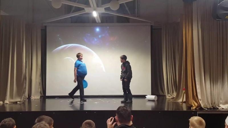 Сказка Летучий корабль. 3 отряд, 1 зимняя смена 2018, космос-2