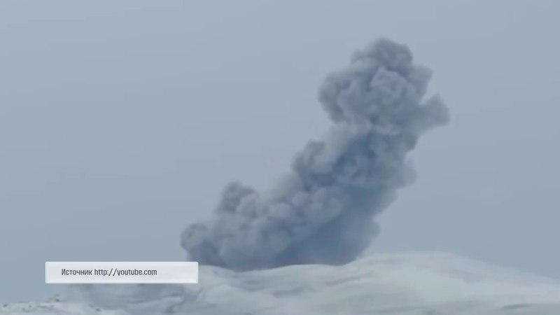 05.04.2018 Вулкан Эбеко выбросил облако пепла в сторону Северо-Курильска
