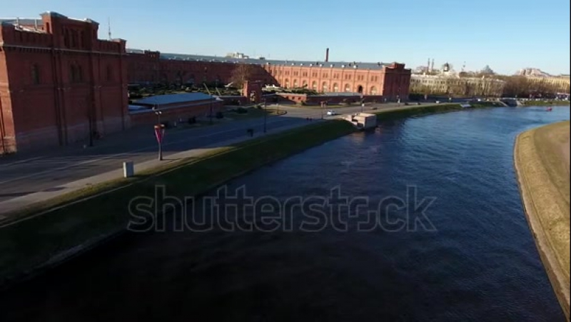 Stock-footage-aerial-drone-video-with-view-of-surround-channel-over-the-peter-and-paul-fortress-in-st-petersburg