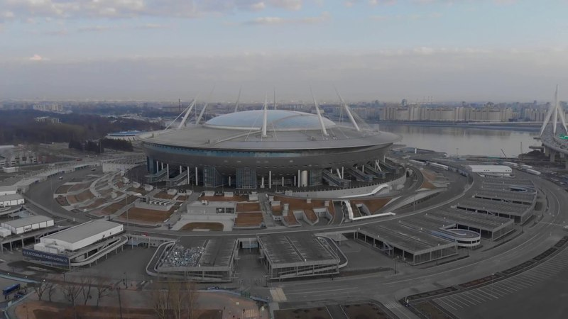 Зенит-арена, Санкт-Петербург. Крестовский остров. Газпром. Mavic air