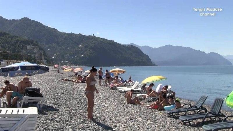Beaches in Batumi Georgia Пляжи Батуми Грузия