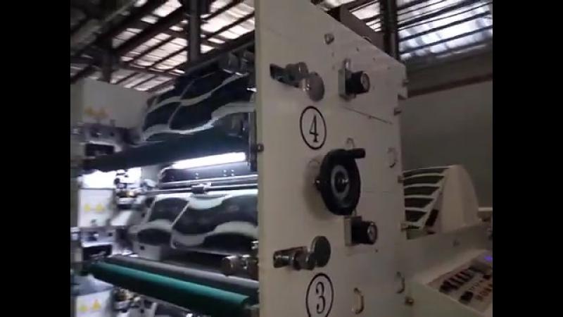видео флексографическая печатная машина JMD-850R, JMD-950R