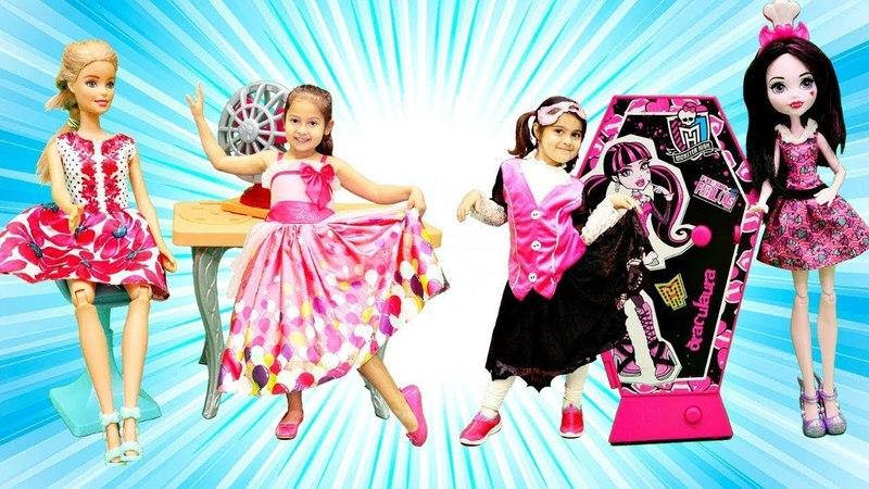 Maşanın oyuncakları. Meryem Monster High ve Barbie eşyaları buluyor