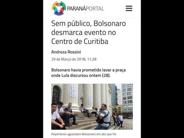 Bolsonaro desmarca evento por falta de público. População cansada da direita e suas mentiras!