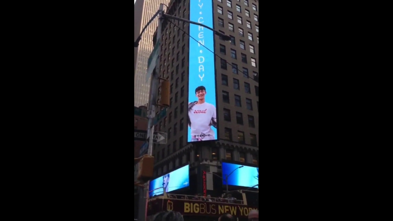[VIDEO] 170921 Chen Birthday Advertisement in Times Square