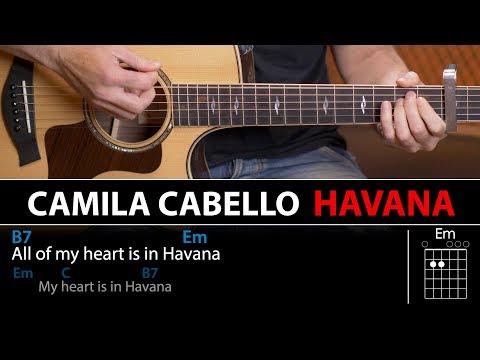 HAVANA Acordes para guitarra (Lección al final) Cover acústica
