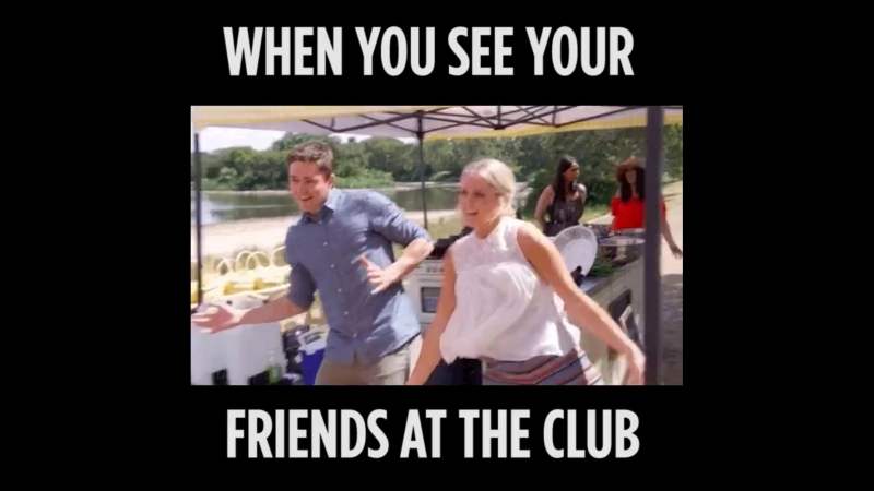 Когда встретил друзей на дискотеке