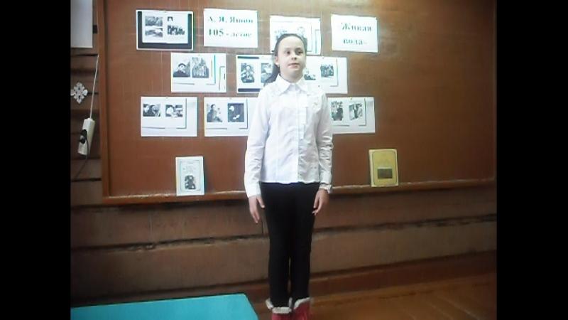 Участница акции Живая вода - Мишенева Лиза, ученица 4 класса Пермасской школы, Никольский район.